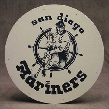1970's WHA San Diego Mariners Locker Room Door Sign