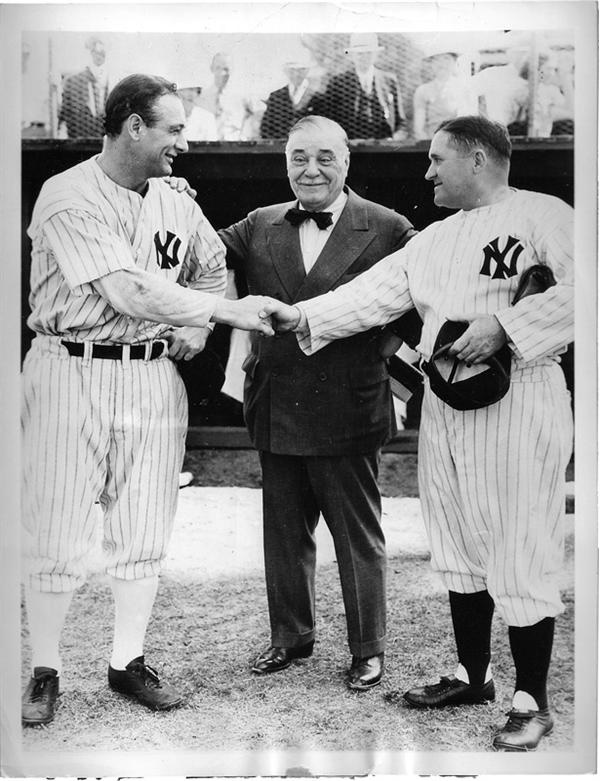 Babe Ruth and Lou Gehrig - November 2008 Catalogue