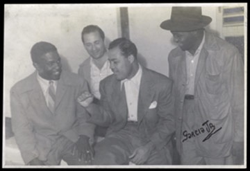 1947 Jackie Robinson & Joe Louis Photograph (5x7