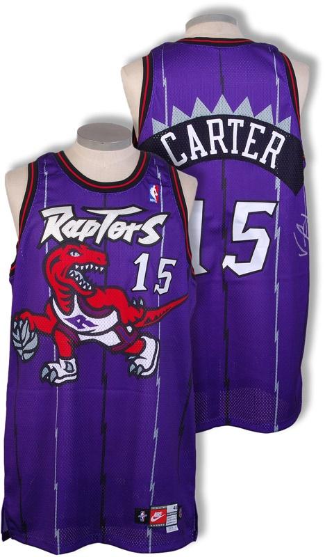 huge selection of d5545 58a6a 1998-99 Vince Carter Toronto Raptors Game Worn Jersey