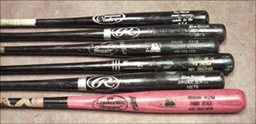 Circa 1999-2001 New York Mets Game Used Bat Collection (9)