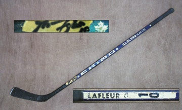 1980's Guy Lafleur Game Used Stick