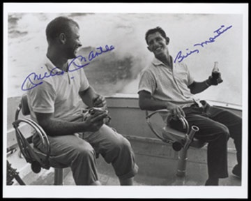 Mickey Mantle & Billy Martin Signed Photograph (8x10
