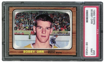 1966-67 Topps Hockey Set with PSA 7 Orr Rookie