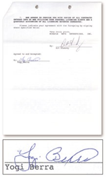 1969 New York Mets Reunion Contract Collection