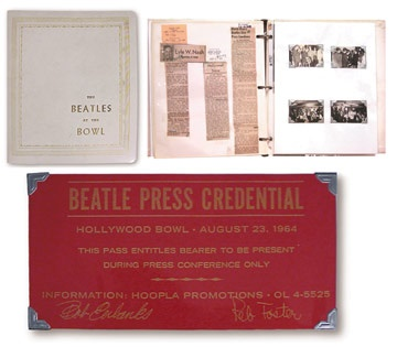 The Beatles At The Bowl Publicity Binder