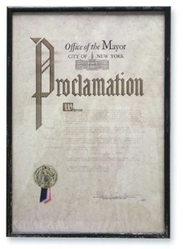 1969 Mickey Mantle Day Mayoral Proclamation (14x20