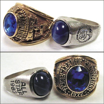 1972 Lee Lacy Minor League & 1983 All-Star Rings