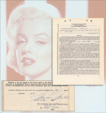 1958 Marilyn Monroe Signed Some Like It Hot Movie Contract