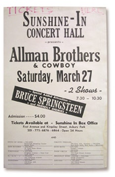 1971 Bruce Springsteen Asbury Park Concert Poster (14x22