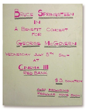 1972 McGovern Benefit Concert Lobby Poster (15x19