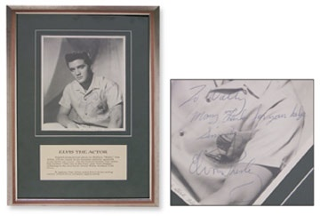 One of the Finest Elvis Presley Signed Photos You Will Ever See