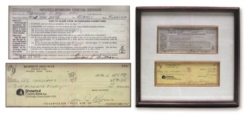 1955 Ted Williams Signed W-4 Tax Form (13x13