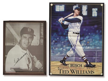 Ted Williams Signed Image Collection (2)