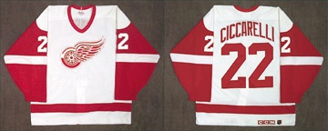 1996 Dino Ciccarelli Detroit Red Wings Game Worn Jersey