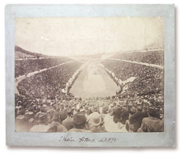 The First Modern Olympics Albumen Print