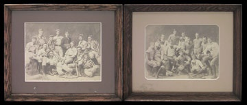 1880's Williams College Baseball and Football Photographs