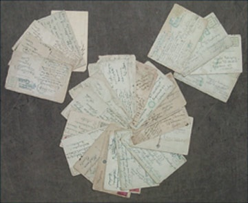 1920's-40's New York Cubans Signed Player Postcards (34)