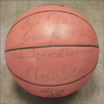 1963-64 Cincinnati Royals Team Signed Basketball