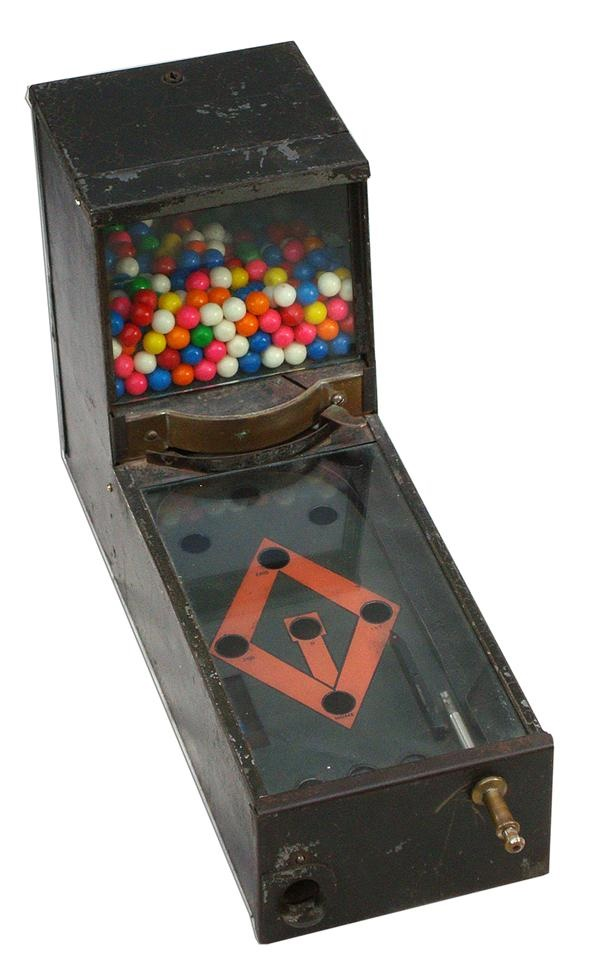 1930s Baseball Gumball Gambling Machine