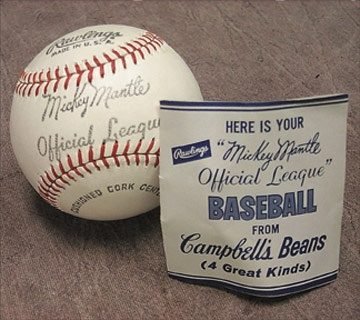 1962 Mickey Mantle Campbell's Premium Baseball