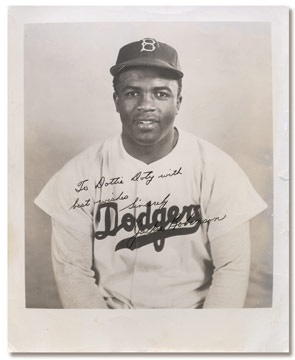 Circa 1949 Jackie Robinson Signed Photograph (8x10
