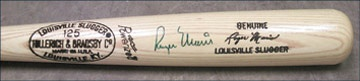 1980's Roger Maris Signed Bat (35