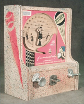 1950's Basketball Coin-Operated Machine (7x14x17