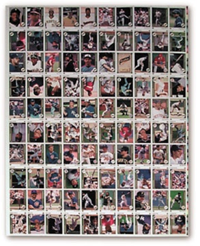 1989 Upper Deck Baseball Complete Set in Uncut Sheet Form
