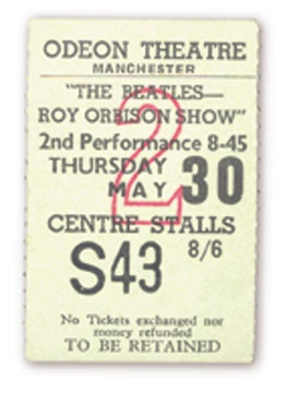 May 30, 1963 Ticket