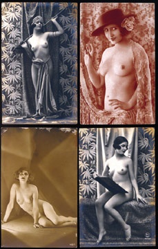 1910's-20's French Erotic Postcards (130)