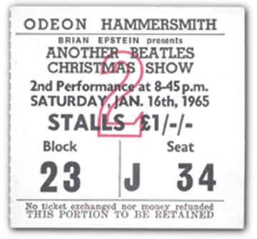 January 16, 1965 Ticket