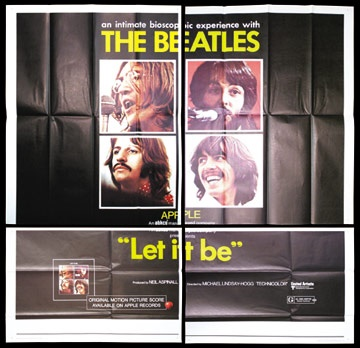 1970 The Beatles Let It Be 6-Sheet Movie Poster (72x72