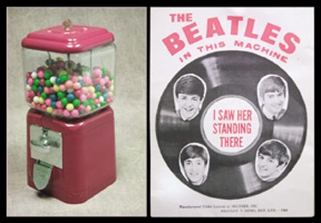 Gumball Machine With Beatles Contents