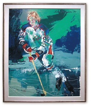 The Great Gretzky Original Painting by LeRoy Neiman (1981)