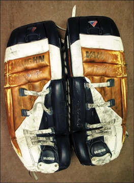 1999-00 Bill Ranford Edmonton Oilers Game Worn Goalie Pads