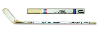 1980's Marcel Dionne Game Used Stick