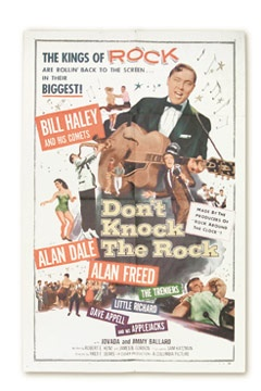 1957 Don't Knock The Rock Film Poster