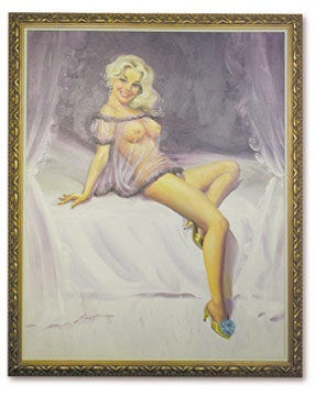 1960's Glamour Girl Pinup Painting by Rusty