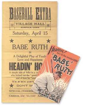 1920's Babe Ruth Movie Collection