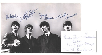 The Beatles Paul McCartney Signed Postcard