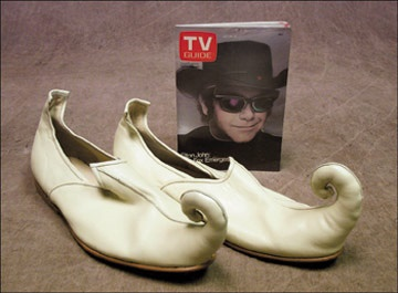 Elton John Stage Used Shoes And Prop (2)