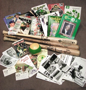 Athletics Memorabilia & Autograph Collection