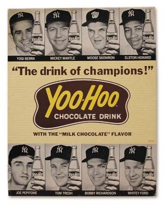 1964 New York Yankees Yoo-Hoo Advertising Sign (11x14