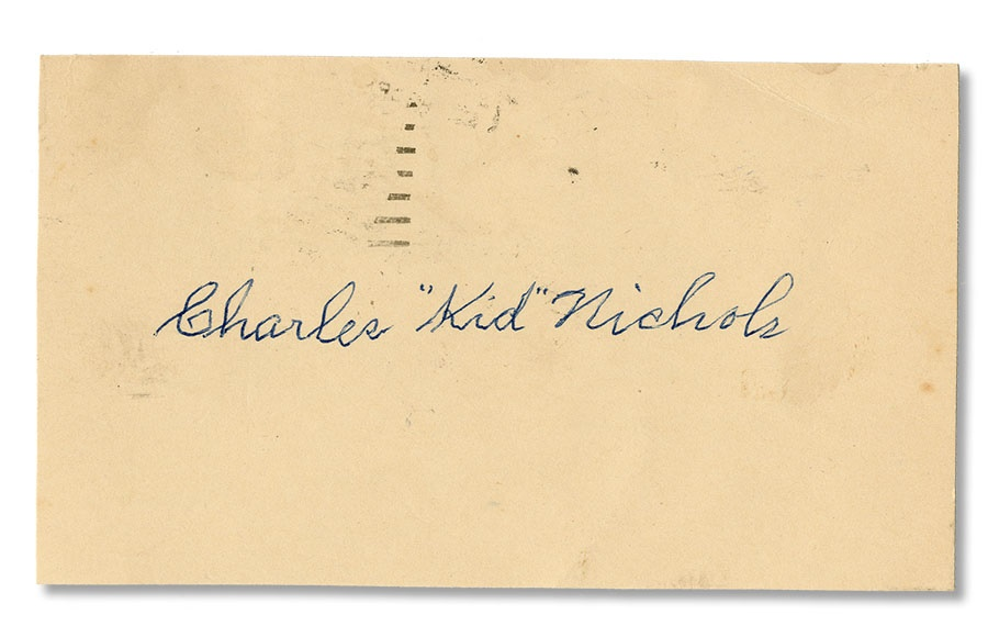 1952 Kid Nichols Signed Government Postcard