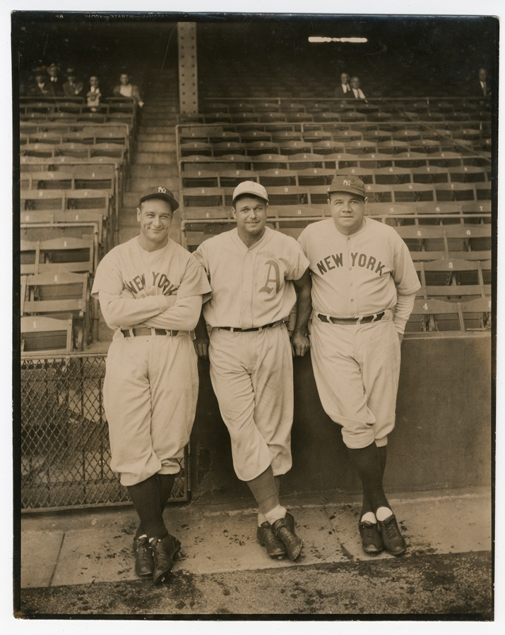 Babe Ruth and Lou Gehrig - November 2010 Catalog