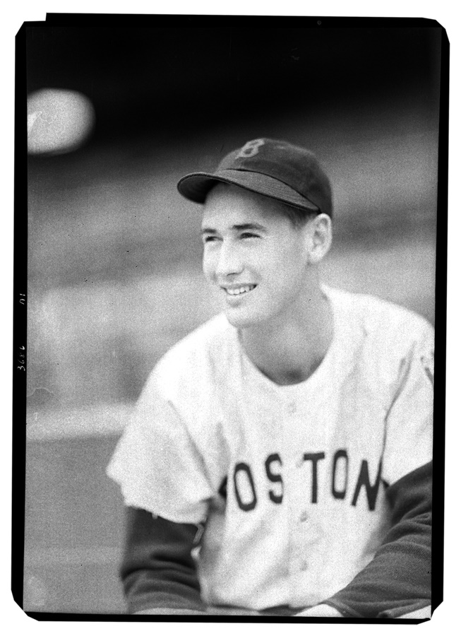 Circa 1939 Ted Williams Original Negative by George Burke