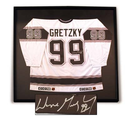 Wayne Gretzky Framed Upper Deck Authenticated Los Angeles Kings Jersey