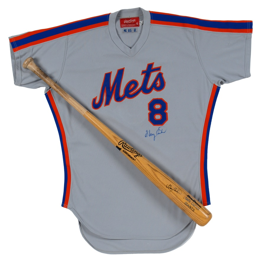 new product e91bb 32f9b Gary Carter Game Used Jersey and Bat