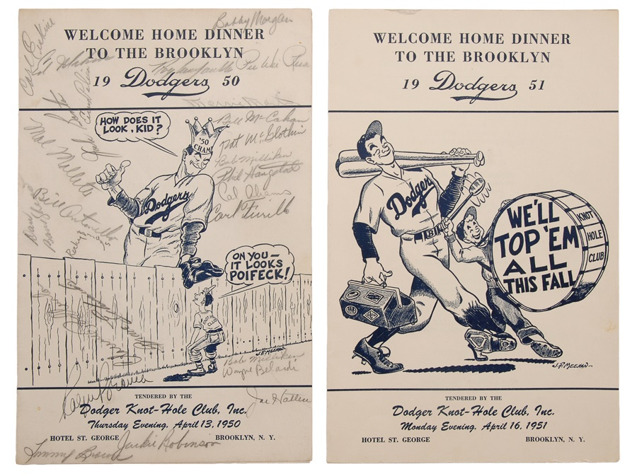1950 Brooklyn Dodgers Team Signed Welcome Home Program